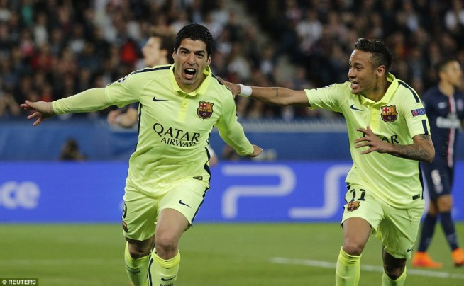 Luis Suarez and Neymar